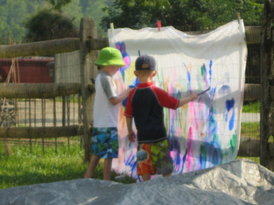 Painting at camp