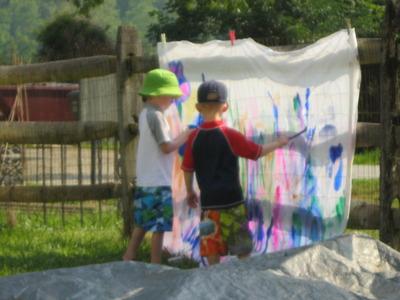 Painting at camp